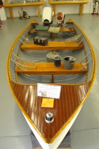 Old boat on display in museum