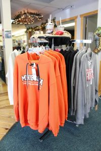 Minnesota sweatshirts in the Minnesota Fishing Museum gift shop