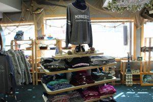 Minnesota long sleeve shirts in the Minnesota Fishing Museum gift shop