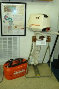 Johnson outboard motor and gasoline tank