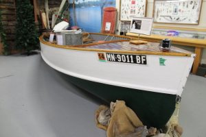 Boat on display in the Minnesota Fishing Museum