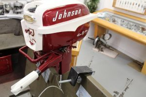 Another view of a Johnson outboard motor