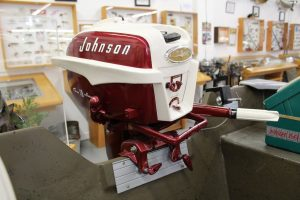 Johnson outboard motor in the museum
