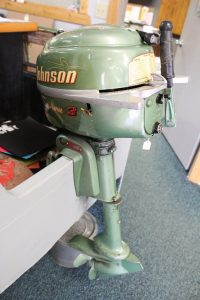 Johnson Outboard motor in the Minnesota Fishing Museum